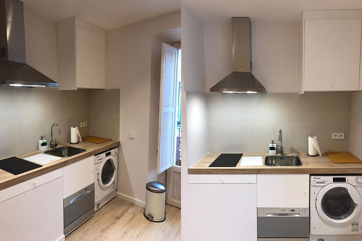Apartamento después de la reforma. Cocina`