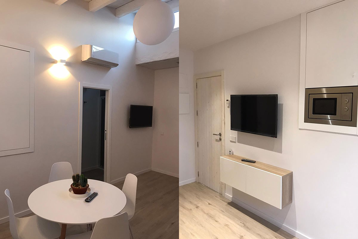 Apartamento después de la reforma. Salón`