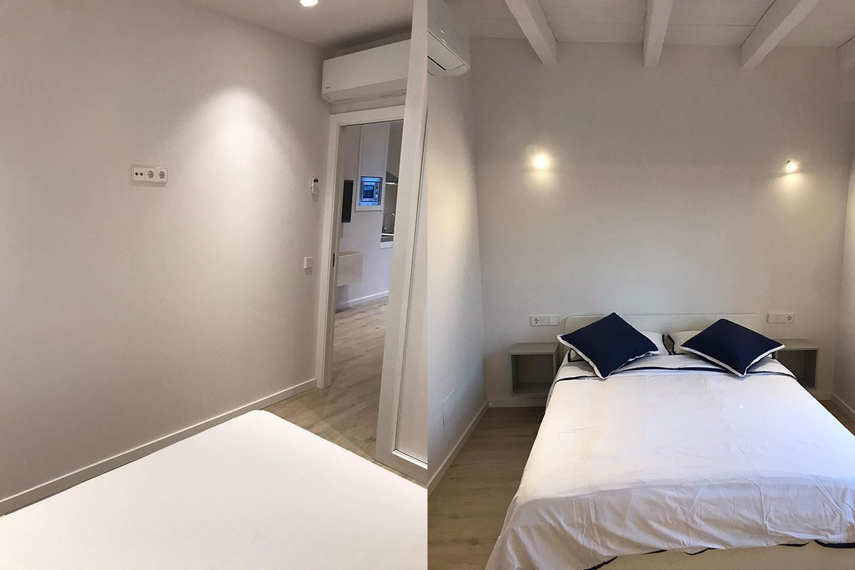 Apartamento después de la reforma. Habitación`