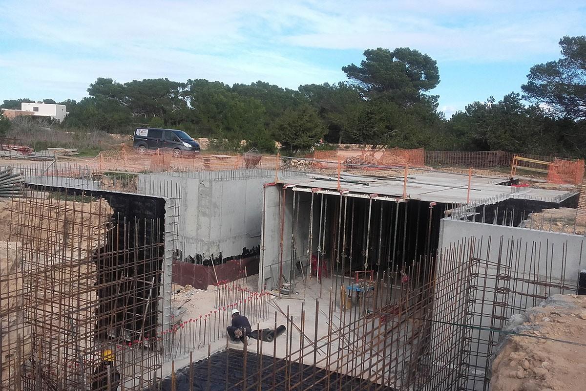 Cimientos obra nueva`
