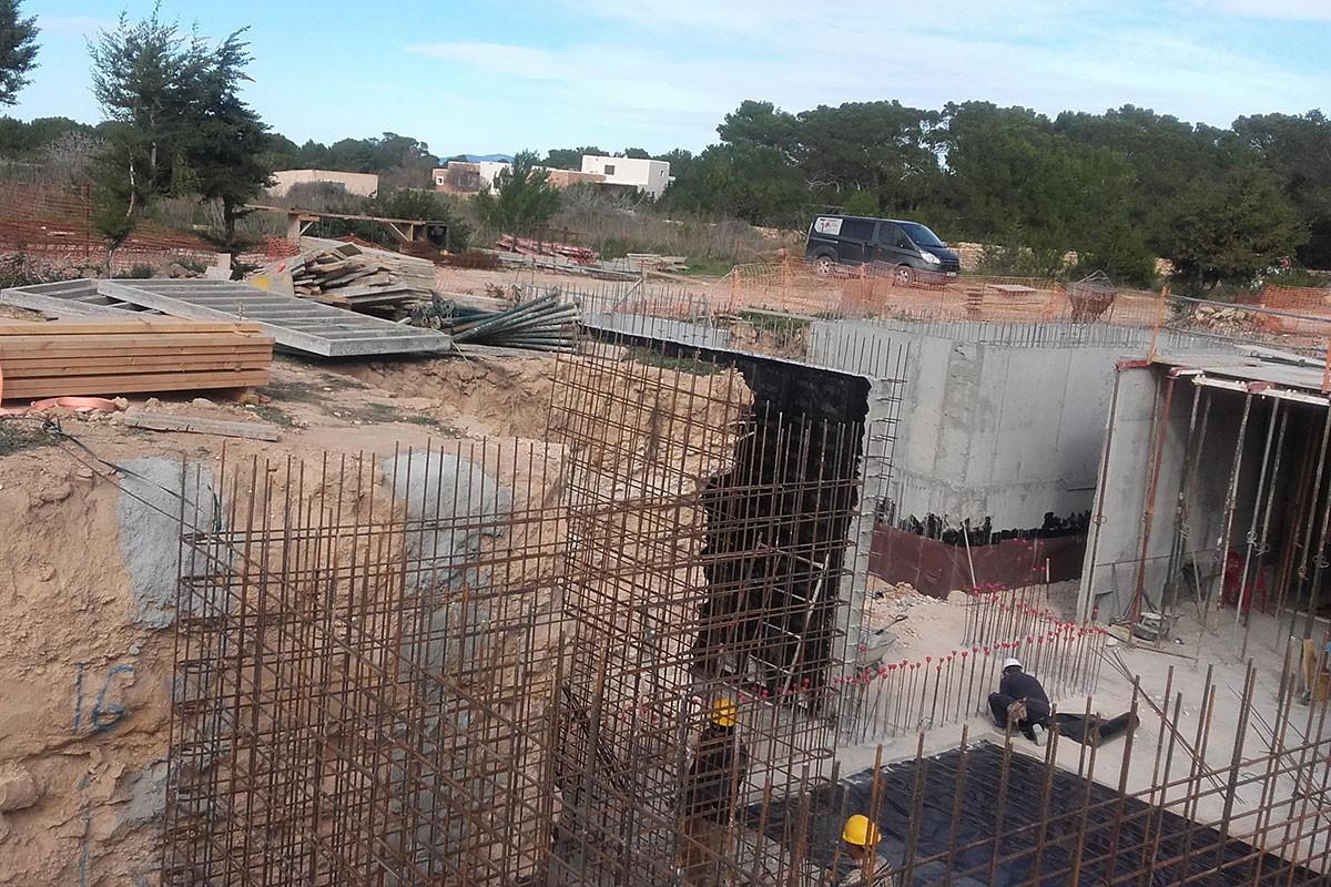 Cimientos casa obra nueva`