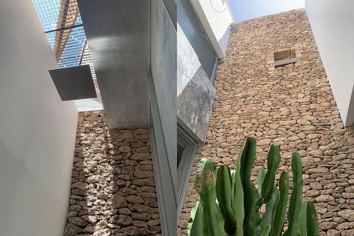 Detalle fachada en piedra`